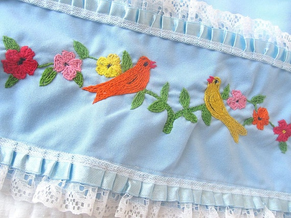 Turtle Dove Embroidered Linen.