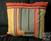 Striped Patchwork Cushion Cover