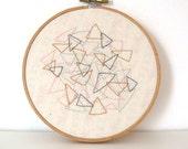 Triangles Original Embroidery