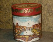 Vintage E. Otto Schmidt German Tin, Made in Germany, Gorgeous Lithographs, Nurnberger, Lidded