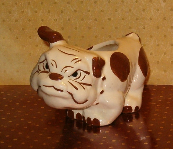 "Vintage Bulldog Planter, 1940's, Rio Hondo or Walker, 5.5""L, Simply Wonderful, Pottery"