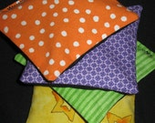 Halloween Bean Bags Toss- Party Game - Orange, Purple, Lime Green & Yellow Prints - Ready to Ship - X Sturdy - Double Bagged