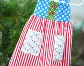 Carnival Queen Girls Double pocket, Reverse Knot style sundress or jumper.