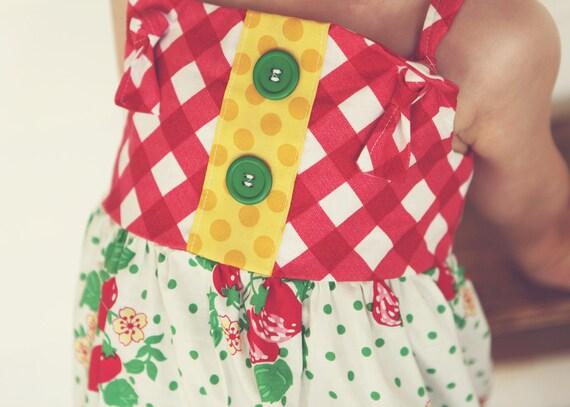 Strawberry Fields Girls Knot Dress Sizes 6 months-4T