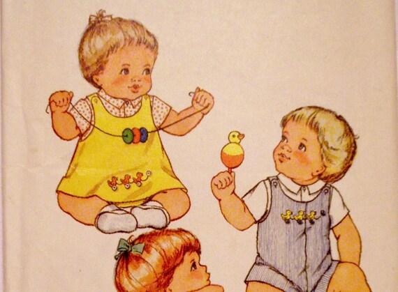 Butterick 3949 Baby Infant Cute Vintage Jumper Overalls Panties Size XL Vintage Toddler