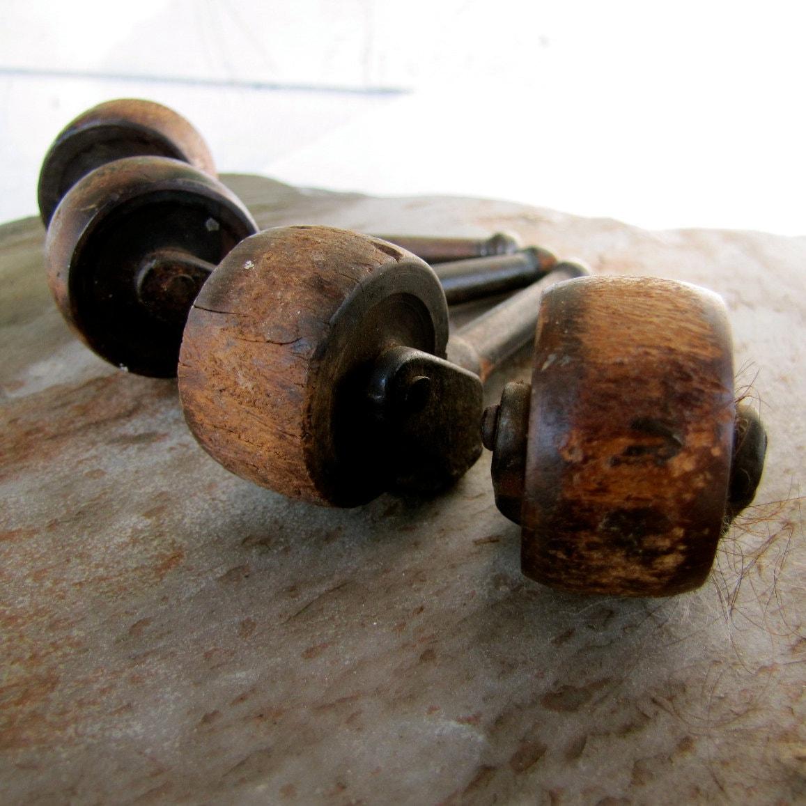 Antique Wooden Casters For Furniture Restoration Or Art