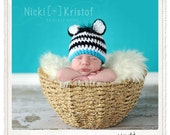 Baby Crochet Boy Zebra Hat Photography Prop Halloween Costume - Treasured Little Creations