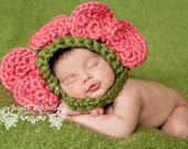 Baby Crochet Flower Hat Photography Prop - Treasured Little Creations