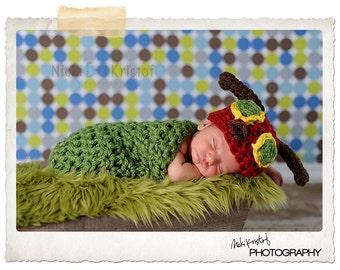 Hungry Caterpillar Set Newborn Halloween Costume Photography Prop - Treasured Little Creations