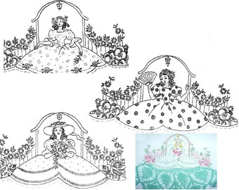 3x Southern Belle transfer embroidery mo579