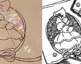 Southern Belle & Lazy Daisies embroidery transfer HL875