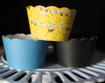 Sponge Bob Square Pants Cupcake Wrappers