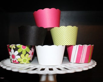 The Brooklyn Collection Pink, Lime Green, Black, White with Glitter Accents