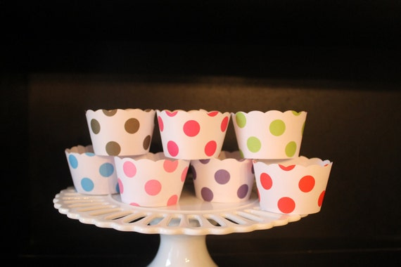 Assorted Polka Dot Cupcake Wrappers In Polka Dot Them Pefrect for Rainbow Birhtday