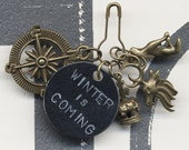 Winter is Coming - Change it Charm - Hand Stamped