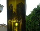 Decorative Wine Bottle New York Skyline