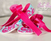 PATTERN, Rounded Toe Ballet Flat Soft Sole Shoes - Sizes, 1 - 7, Infant to age 2, Detailed Tutorial and Step by Step Photos