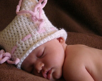 PDF Newborn Sack Hat Crochet Pattern