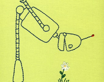 Robot with Flower embroidery pattern PDF