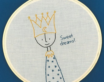 Prince of Bedtime Embroidery Pattern PDF