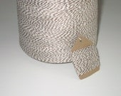 50 Yards of Light Brown and White Baker's Twine