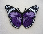Purple Moth Butterfly Iron Patch Butterfly machine embroidered applique