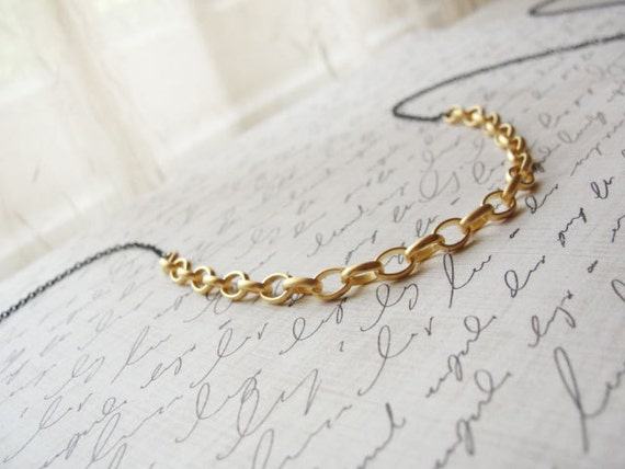 Long black and gold necklace - long simple necklace