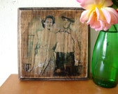 custom Father's  day gift, family photos on wood