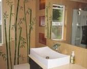 Wall glass tiles bamboo 1 stalk bathroom decoration (8 x narrow inter-nodes) shopsteam