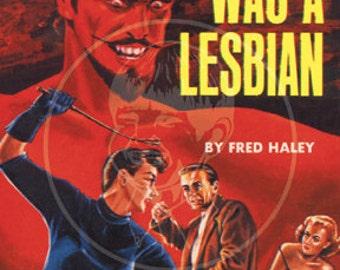 Satan Was a Lesbian - 10x16 Giclée Canvas Print of Vintage Pulp Paperback