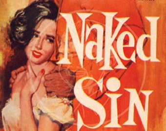 Naked Sin - 10x16 Giclée Canvas Print of Vintage Pulp Paperback