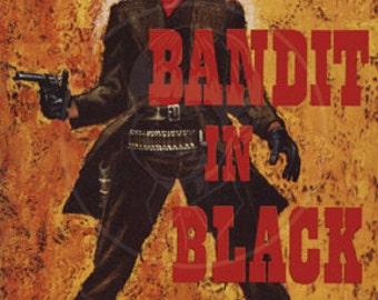 Bandit in Black - 10x15 Giclée Canvas Print of Vintage Pulp Paperback
