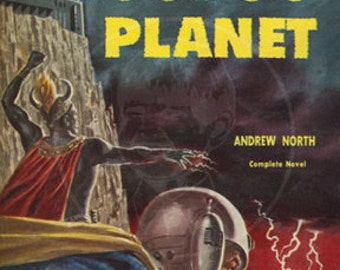 Voodoo Planet - 10x16 Giclée Canvas Print of a Vintage Pulp Science Fiction Paperback Cover