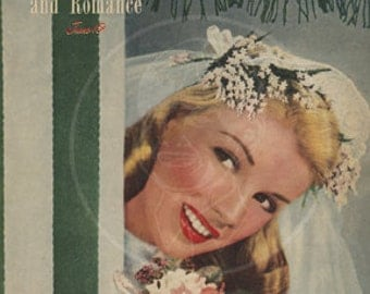 True Love and Romance (June 1947) - 10x13 Giclée Canvas Print of Vintage Pulp Romance Magazine