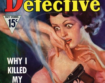 Daring Detective (Feb 1937) - 10x13 Giclée Canvas Print of a Vintage Pulp Magazine Cover