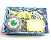 Peppermint Bath Gift Box Set - Soap Body Scrub Solid Lotion Lip Balm