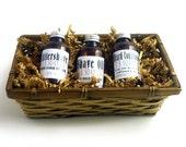 Mens Shaving Bath Gift Basket - Shave Oil Aftershave Beard Conditioner