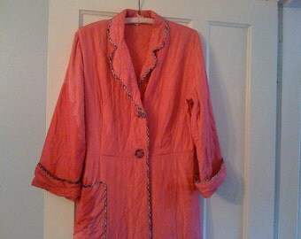 Pretty Pink Quilted Satin Robe