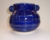 Cobalt blue, handmade ceramic pottery, sauce server, pencil holder, soup dish, consumme dish