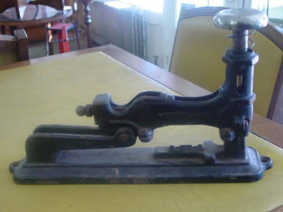 "Antique Industrial Cast Iron Stapler ""Sure Shot"""