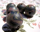 Handmade Fuschia Lime Teal Beads-Xtra Large