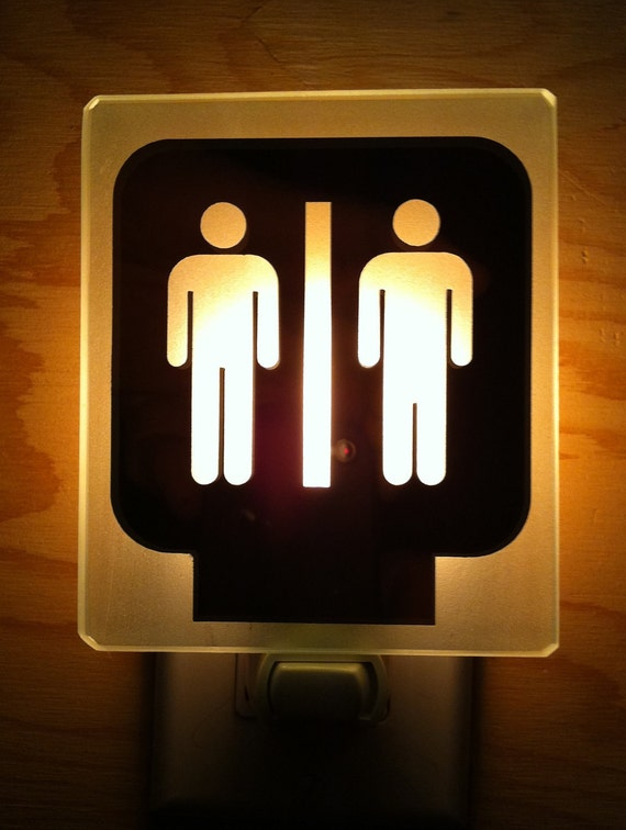 night light restroom toilette men men Veilleuse