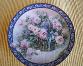 REDUCED - Vintage Collectible Porcelain Lena Liu Roses Limited Edition Decorative Plate