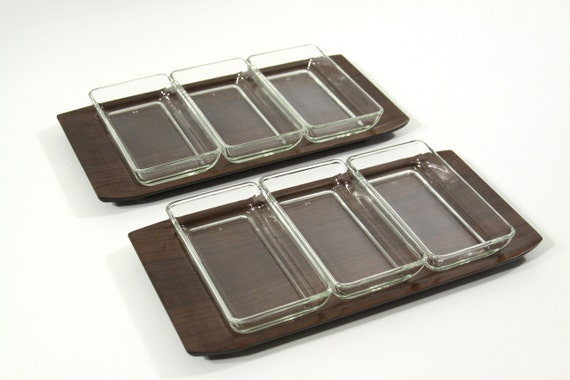 Two Mid Century Serving Trays
