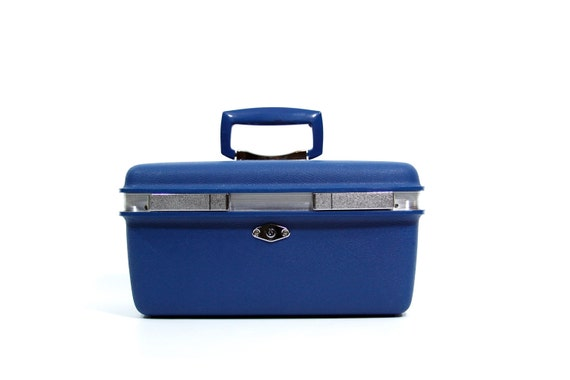 Royal Blue Train Case by Royal Traveller