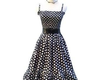 Vintage inspired  Retro Rockabilly swing summer dress