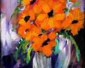 Impressions -In a Vase. Orange Flowers