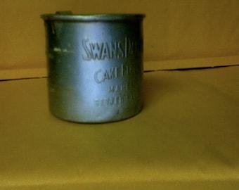 Swansdown Cake Flour 1 Cup Measure Vintage Advertising Tin Cup