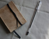 Light Brown Suede Handmade Notebook