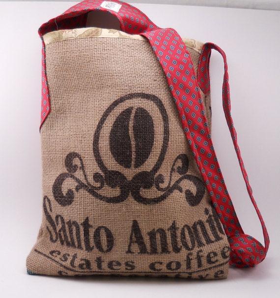 Recycled Coffee Sack Tie Bag